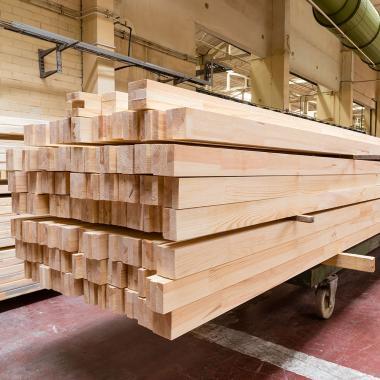 Клееный брус лиственница 100x200 сорт Экстра